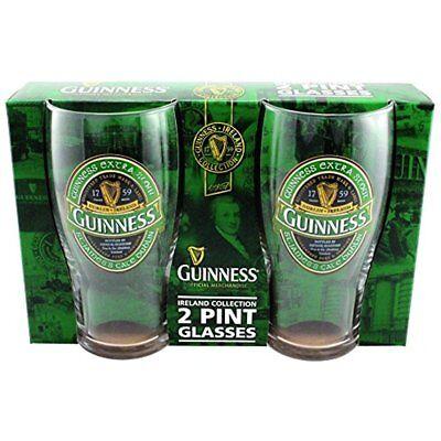 Guinness Beer Glasses Green Collection Pint Glasses Set Of Glasses