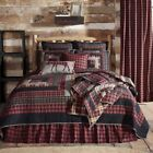 Log Cabin Red Rustic/Primitive Quilts, Bedspreads & Coverlets