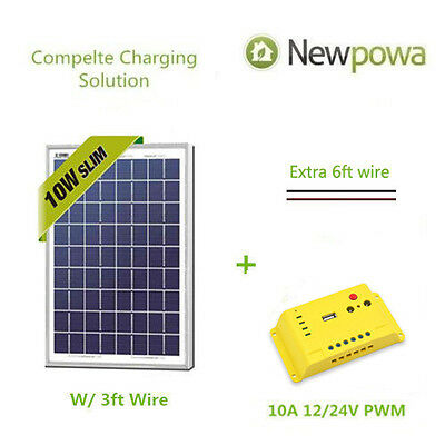 NewPowa 10W Watt 12V Solar Panel Module +
