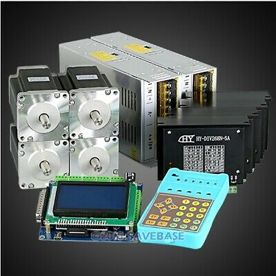 Revolutionary 5a Tb6600hg Stepper Controller Cnc Kit 4 Axis Nema24 3.3nm Motor