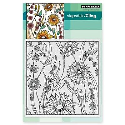 PENNY BLACK RUBBER STAMPS SLAPSTICK CLING FLOWER BOX NEW STAMP