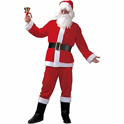 Santa Claus Adult Men's Christmas Suit, Winter Holiday Classic Costume - Santa Costumes For Men