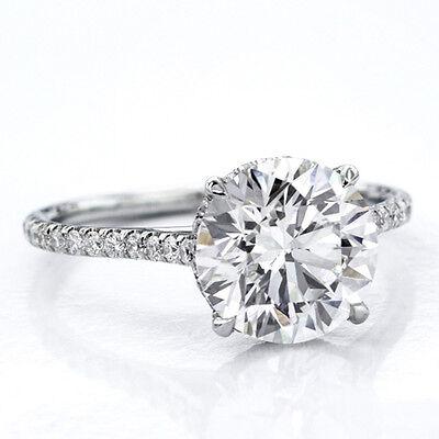 Genuine 1.25 Ct Round Cut Diamond Engagement Ring I,VS2 GIA White 14K Gold