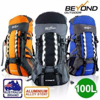 80L+20 Camping Hiking Backpack RUCKSACK Water proof Backpack