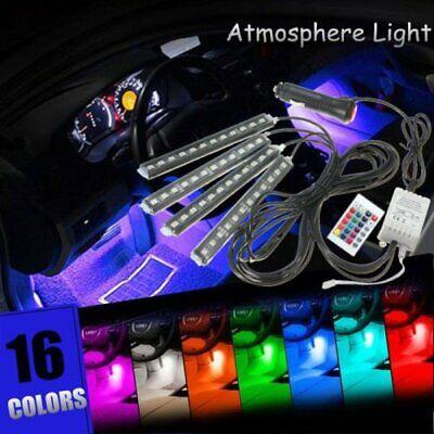- 4x 9 LED RGB 16 Color Interior Car Under Dash Foot Floor Seats Accent Lighting