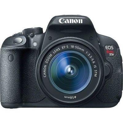 Canon EOS Rebel T5i / EOS 700D 18.0MP DSLR 18-55mm II Lens (3 LENSES). Freeship