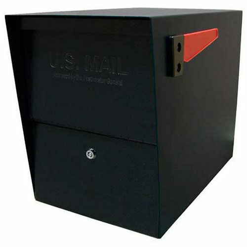 Package Master Commercial Locking Mailbox, Black