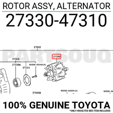 2733047310 Genuine Toyota ROTOR ASSY, ALTERNATOR 27330