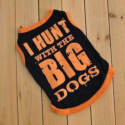Summer Various Pet Puppy Small Dog Cat Pet Kiss Me Camouflag Shirt Vest Apparel