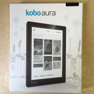 "Kobo Aura 6"" Digital eBook Reader With Touchscreen 4 GB WIFI - Black (NEW OPEN )"