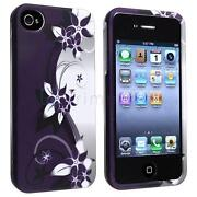 Snap on Rubber Hard Case for iPhone 4
