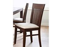 Julian Bowen 2 x Santiago Wenge Finish Dining Chair