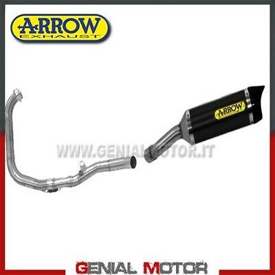 FULL EXHAUST ARROW STREET THINER AKN ALUMINIUM BLACK <em>YAMAHA</em> MT 03 2017