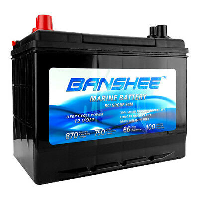Deep Cycle Group 34 Marine Battery Replaces 34M, 8016-103, SC34DM Style Battery Marine Deep Cycle