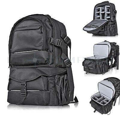 Camera Camcorder Backpack Travel Bag Case for DSLR SLR Canon Nikon Sony Pentax