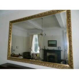 Huge Gilded framed mirror 6x4ft