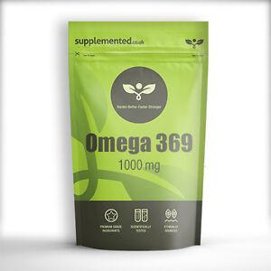 Omega 3 6 9 1000mg 180 Capsules FISH OIL HIGH STRENGTH EPA DHA