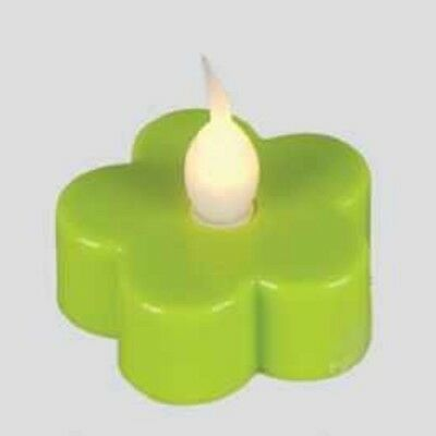LED-Teelicht 3 Stück Teelichter Blüte grün Best Season 066-13 ()