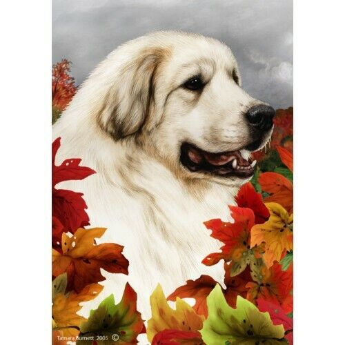 Fall House Flag - Great Pyrenees 13146