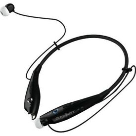 Chargeworx CX9014BK Wireless Bluetooth Earphone Headset Black ( Limited Edition Color Black ) New