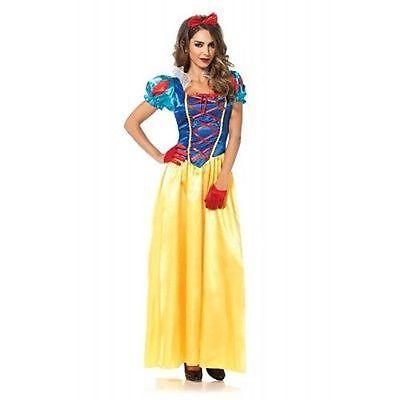 Leg Avenue Classic Snow White Story Goth Punk Fairy Tale Halloween Costume 85407 - Gothic Snow White Costume