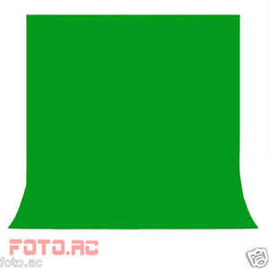 Hintergrund Hintergrundstoff Chromakey green screen grün Baumwolle neu 2.8M