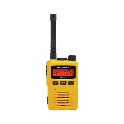 Motorola Solutions Evx-s24 Digital Dmr Analog Uhf 403-470 Mhz Radio Yellow