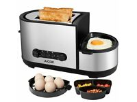 Brand New AICOK 2 Slice Toaster & Egg Cooker