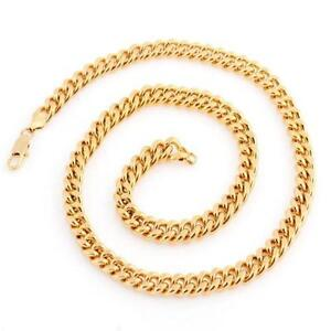 bhp gold heavy chain necklace mens ebay