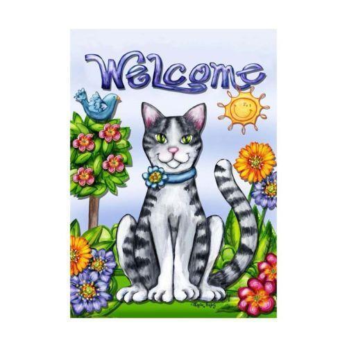 Cat garden decor ebay for Cat yard art