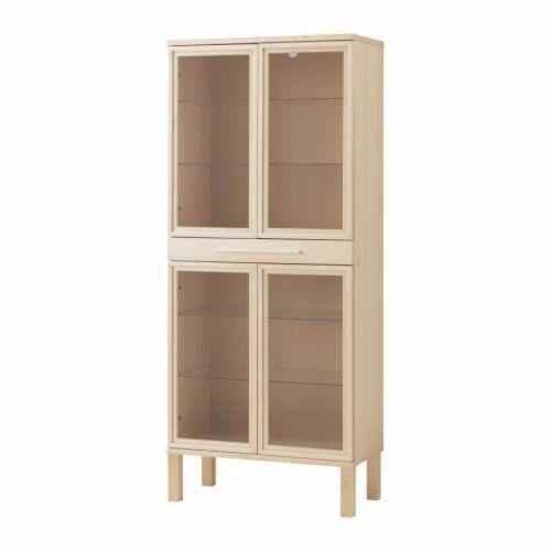 Ikea Bjursta Oak Display Cabinet In Gullane East Lothian Gumtree