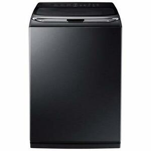 Laveuse à chargement par le haut à haute efficacité de 5,8 pi³ en Inox noir Samsung ( WA50K8600AV )