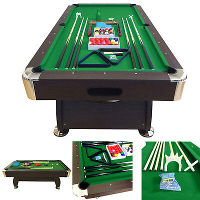 8' Feet Billiard Pool Table Snooker Full Set Accessories Game Vintage Green 8FT for sale  Miami