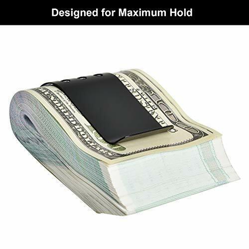 Large Money Clip Spring Steel Cash Clips Minimalist Front Pocket Wallet Black