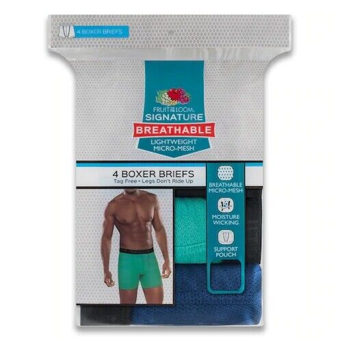 men s 4 pack breathable micro mesh