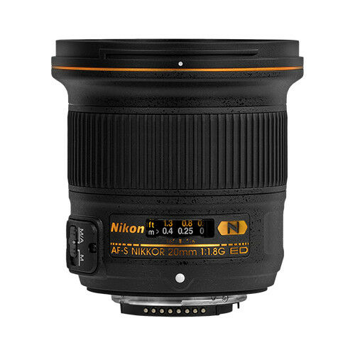 Nikon AF-S NIKKOR 20mm f/1.8G ED Ultra Wide Angle Lens for Most Nikon F-Mount Cameras Black 20051