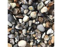 20 mm beach shingle garden and driveway chips/ stones/ gravel