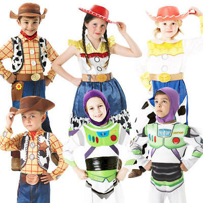 Disney Toy Story Kids Fancy Dress Movie Characters Girls Boys Childrens Costume (Toy Story Girl Characters)