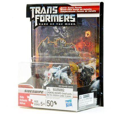 Transformers Dark of the Moon Battle Scene Puzzle with Autobot Sideswipe Figure](Transformers Scene)