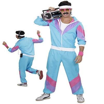 80er 90er Jahre JOGGINGANZUG Kostüm Mottoparty S, M, L, XL, XXL (80 Jahre Motto Kostüm)