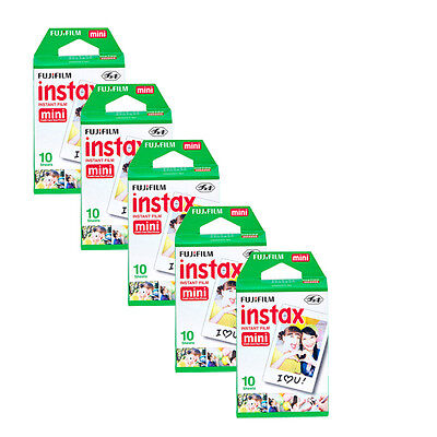 50 Prints Fujifilm Instax Mini Instant Film for Fuji 8, 7S, 50S, 90, 25 Camera