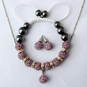 Shamballa Bead Necklace