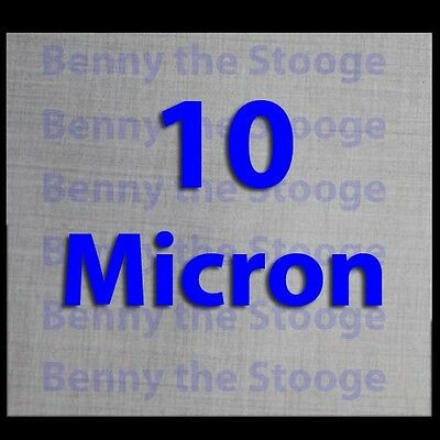 "12"" x 12"" Stainless Steel 10 Micron Filtration Screen / Mesh - 3 Pack"