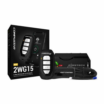 Compustar RFX-2WG15-FM 4 Button 2 Way LED Remote RF Kit 3000' Range w Drone X1L