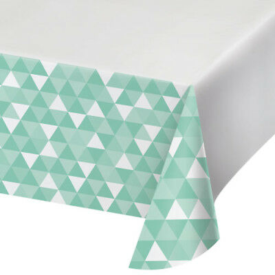 MINT GREEN FRACTAL PLASTIC TABLE COVER ~ Wedding Birthday Party Supplies - Mint Green Plastic Tablecloth