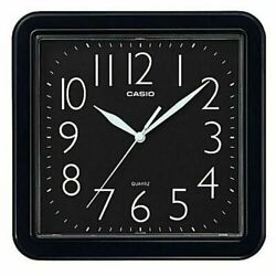 NEW CASIO RESIN BLACK WALL CLOCK IQ-02S-1D EASY TO READ WHITE BIG NUMBERS
