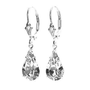 Silver Leverback Earrings