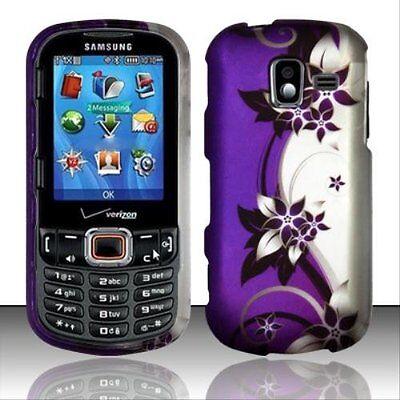 - Design Rubberized Hard Case for Samsung Intensity III U485 - WHITE FLOWER