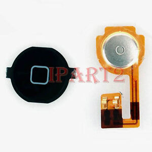 New Replacement Home Button Flex Cable + Black Key Cap For Apple iPhone 3GS