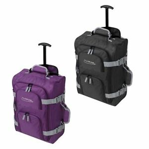 bagage l ger de cabine a roulettes voyage bagage main chariot sac fourre tout ebay. Black Bedroom Furniture Sets. Home Design Ideas